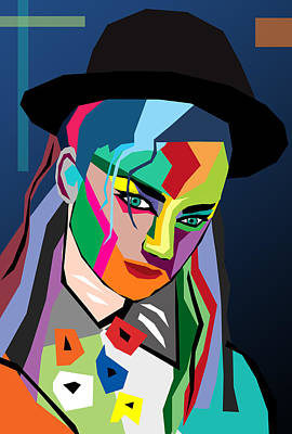 Rock Star Art Photograph - boy George  by Mark Ashkenazi
