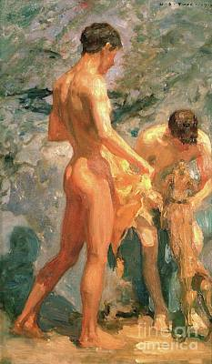 Skinny Puppy Painting - Boys Bathing by Henry Scott Tuke