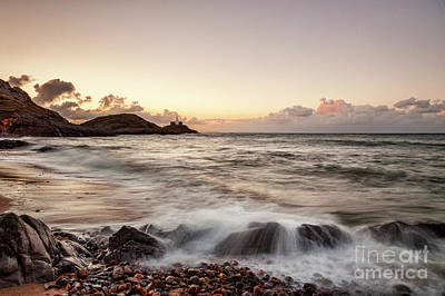 Photograph - Bracelet Bay And The Mumbles Lighthouse by Colin and Linda McKie