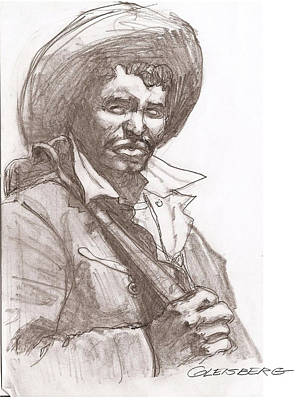 Drawing - Bracero by Dean Gleisberg