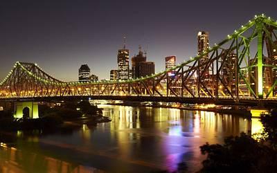 Skyline Digital Art - Bridge by Maye Loeser