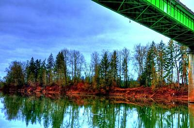 Photograph - Bridge Reflections 20877 by Jerry Sodorff