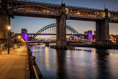 Curated Beach Towels - Bridges over the Tyne by David Pringle