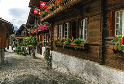 Photograph - Brienz Village, Berne Canton, Switzerland by Elenarts - Elena Duvernay photo