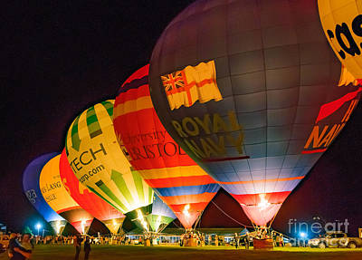 Photograph - Bristol Balloon Fiesta - Night Glow by Colin Rayner