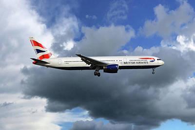 Airways Photograph - British Airways Boeing 767-336 by Nichola Denny