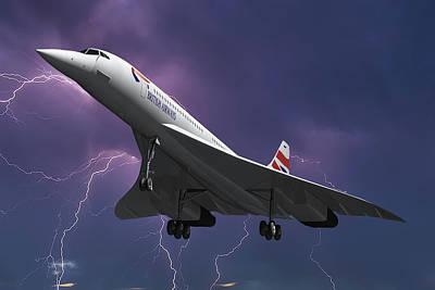 Passenger Photograph - British Airways Concorde by Nichola Denny
