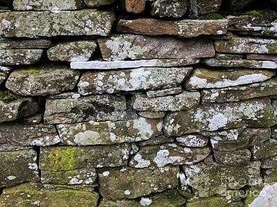 Limestone Painting - British Dry Stone Wall, Photo By Mary Bassett by Mary Bassett