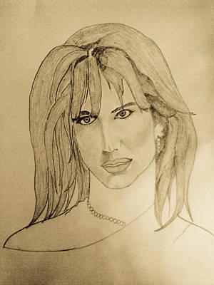 Celebrity Drawing - Britney Spears by Vivek Raj