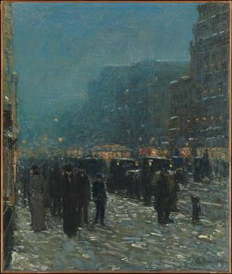 Broadway And 42nd Street Original by Childe Hassam