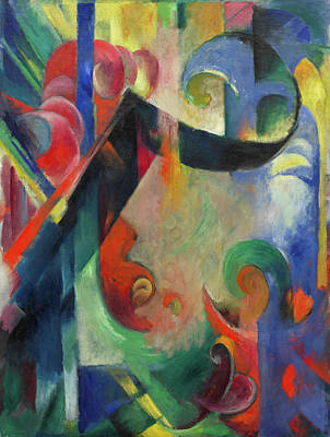 Expressive Painting - Broken Forms by Franz Marc