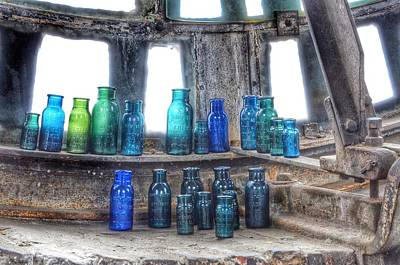 Bromo Seltzer Vintage Glass Bottles  Art Print