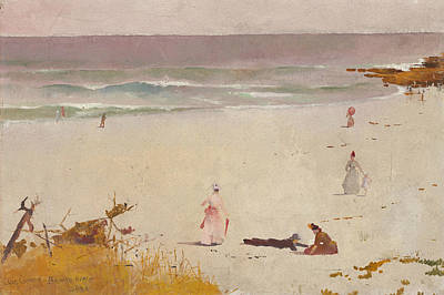 Australian Beach Painting - Bronte Beach by Charles Conder