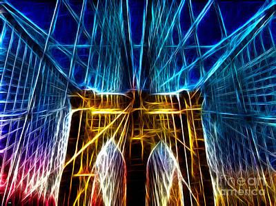 Brooklyn Bridge Mixed Media - Brooklyn Bridge by Daniel Janda