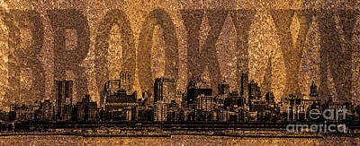 Skylines Royalty-Free and Rights-Managed Images - Brooklyn by Diane Diederich
