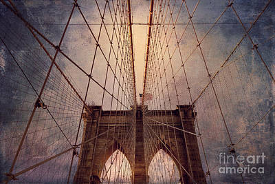 Photograph - Brooklyn Bridge Wires by Alissa Beth Photography