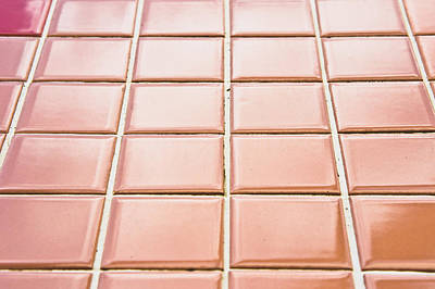Shiny Floors Photograph - Brown Tiles by Tom Gowanlock