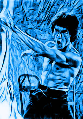 Kung Fu Mixed Media - Bruce Lee Collection by Martial Arts  Fine Art
