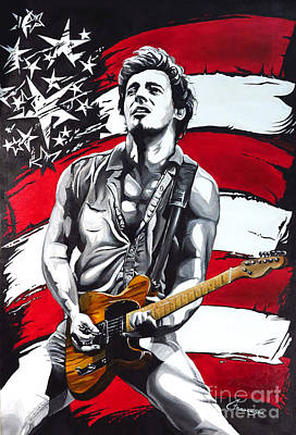 Born In The Usa Painting - Bruce Springsteen by Francesca Agostini