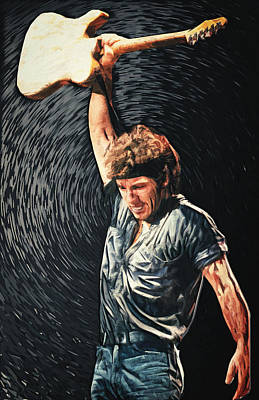Bruce Springsteen Digital Art - Bruce Springsteen by Taylan Apukovska