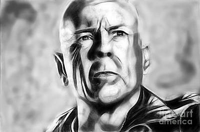 Actors Mixed Media - Bruce Willis Collection by Marvin Blaine