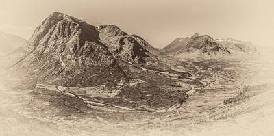 Photograph - Buachaille Etive Mor Monochrome by Alex Saunders