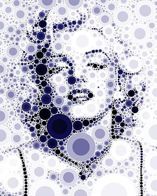 Actors Royalty-Free and Rights-Managed Images - Bubble Art Marilyn Monroe by John Springfield
