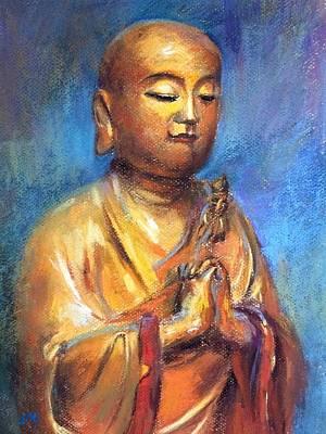 Painting - Buddha by Jieming Wang