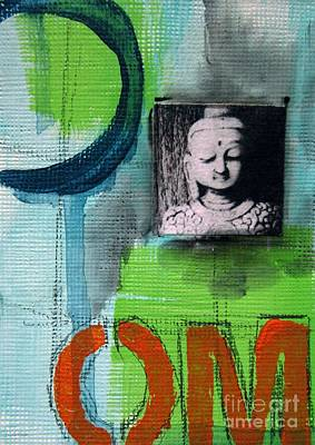 Contemporary Mixed Media - Buddha by Linda Woods