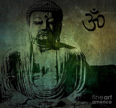 Fine Art India Painting - Buddha by Michael Grubb