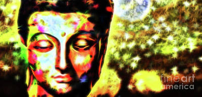 Budda Mixed Media - Buddha Pour Toujours by Sir Josef - Social Critic - ART