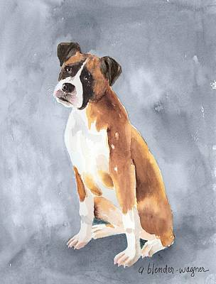 Boxer Painting - Buddy by Arline Wagner