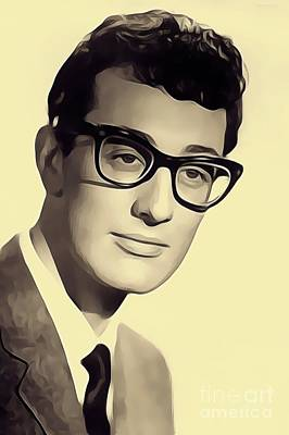 Musicians Royalty Free Images - Buddy Holly, Music Legend Royalty-Free Image by John Springfield