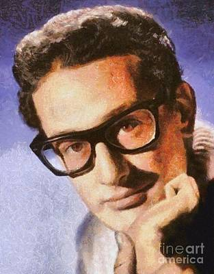 Musicians Royalty Free Images - Buddy Holly, Musician Royalty-Free Image by Esoterica Art Agency