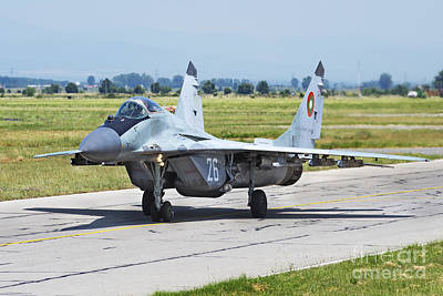 Jet Star Photograph - Bulgarian Air Force Mig-29 Fulcrum by Daniele Faccioli