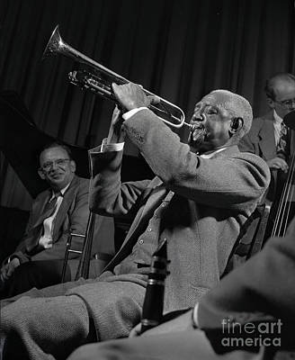 Bunk Photograph - Bunk Johnson With The Doc Evans Band by The Harrington Collection