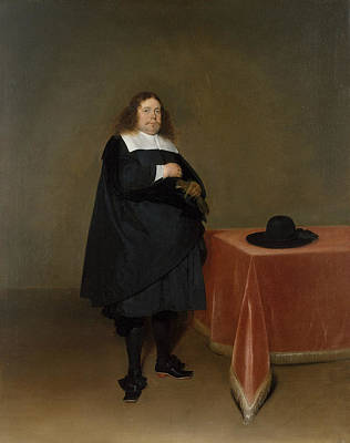 Painting - Burgomaster Jan Van Duren by Gerard ter Borch