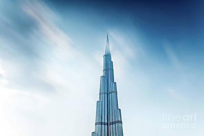 Photograph - Burj Khalifa Dubai's Landmark  by Anna Om
