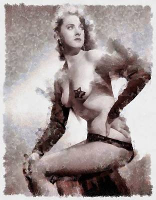 Burlesque Babe Art Print
