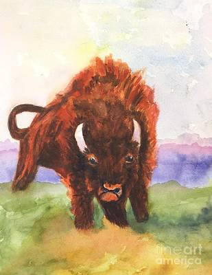 Painting - Burly Bison by Lucia Grilletto