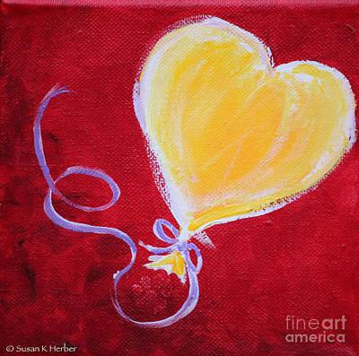 Painting - Brightly Bursting by Susan Herber