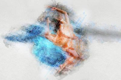 Photograph - Butterfly Ballerina Watercolor   by Gutescu Eduard