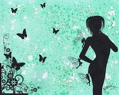 Painting - Butterfly Silhouette by Edwin Alverio