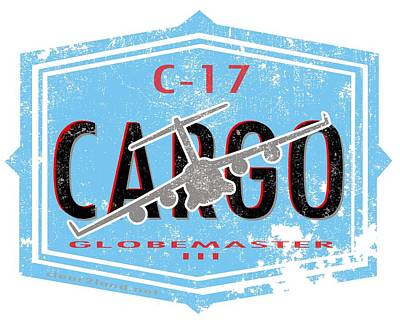C-17 Cargo Art Print by Clear II land Net