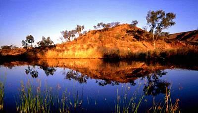 A Summer Evening Landscape Digital Art - C S Landscape by Victoria Landscapes