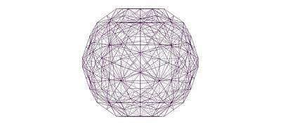 Icosahedron Digital Art - c60 Truncated Icosahedron by Seni Lawal
