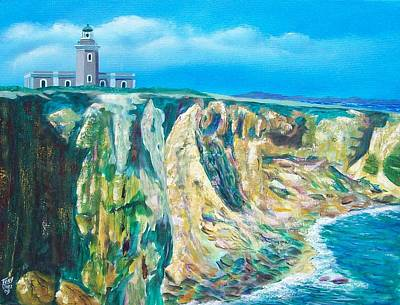 Cabo Rojo Lighthouse Original by Tony Rodriguez