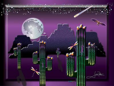 Wall Art - Digital Art - Cacto-lanterns by Jack Potter