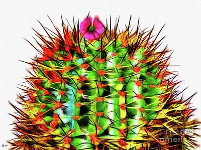 Mixed Media - Cactus by Daniel Janda