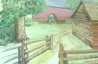 Cades Cove Cantilever Barn Art Print